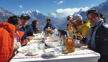 Mt.Everest Heli Tour and amazing breakfast at 4000m